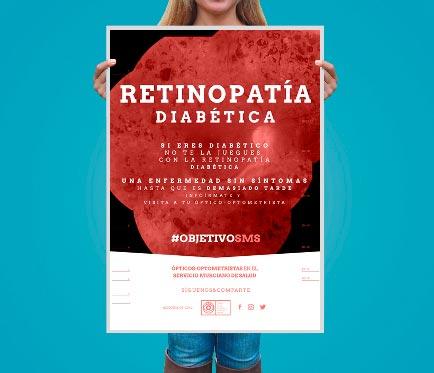 cartel campaña retinoparia diabetica coorm objetivo sms