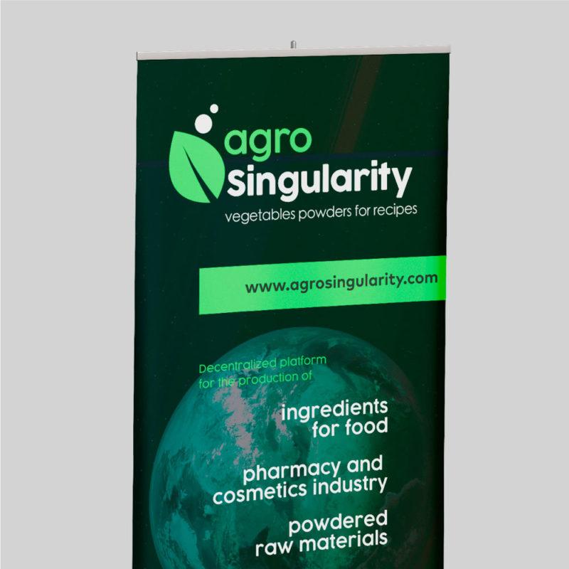 roll up agrosingularity parte superior verde y negro