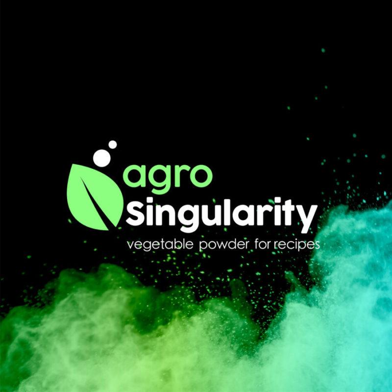 logo retina agro singularity fondo negro con polvo verde