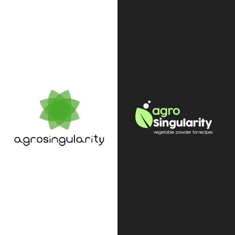 version logo agrosingularity blanco y negro