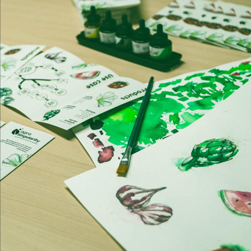 acuarelas ilustracion agrosingularity