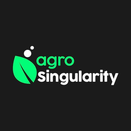 Logo agrosingularity blanco negro verde