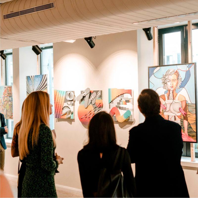 exposicion opt anuaria observadores cuadros abstractos