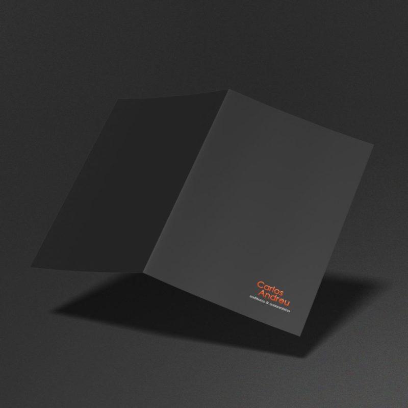 Carpeta Carlos Andreu gris naranja